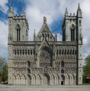 Nidaros Cathedral, Trondheim, West view
