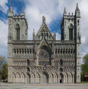 Nidaros Cathedral, Trondheim, West view